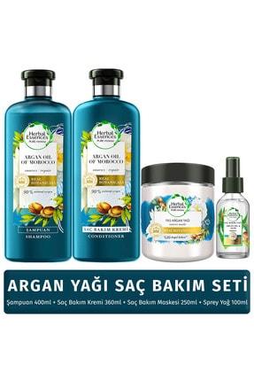 Herbal Essence Argan Yağ Saç Bakım Seti (şampuan + Krem + Bakım Yağı + Maske) 55433