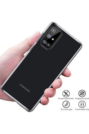 Fibaks Samsung Galaxy M51 Kılıf 3d Kamera Korumalı Lux Şeffaf Yumuşak Silikon 2