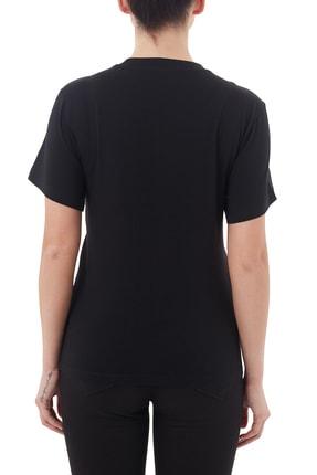 Emporio Armani Kadın Siyah Pamuklu Bisiklet Yaka T Shirt 6h2t7ı 2j07z 0999 1