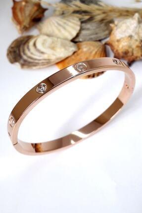 4C Accessories Zirkon Taşlı Paslanmaz Çelik Cartier Bileklik Bilezik 18 Cm 3