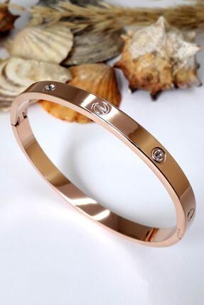 4C Accessories Zirkon Taşlı Paslanmaz Çelik Cartier Bileklik Bilezik 18 Cm 4