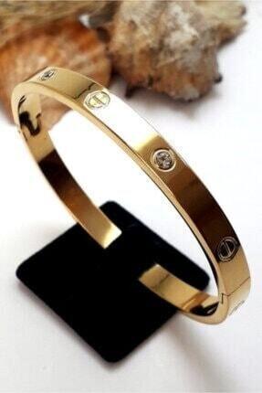 4C Accessories Zirkon Taşlı Paslanmaz Çelik Cartier Bileklik Bilezik 18 Cm 2