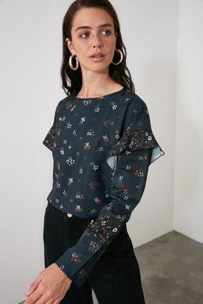 TRENDYOLMİLLA Siyah Sırt Detaylı Bluz TWOAW21BZ0987 2