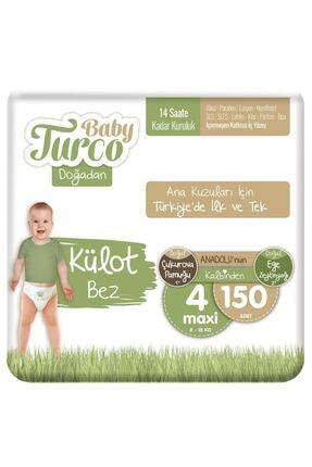 Baby Turco Doğadan Külot Bez 4 Numara Maxi 150 Adet 0