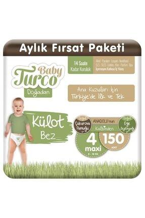 Baby Turco Doğadan Külot Bez 4 Numara Maxi 150 Adet 1