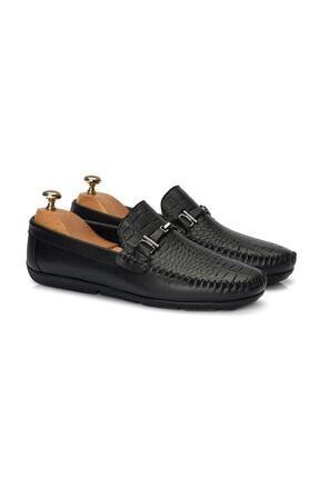 Muggo Erkek Siyah Loafer Ayakkabı 1