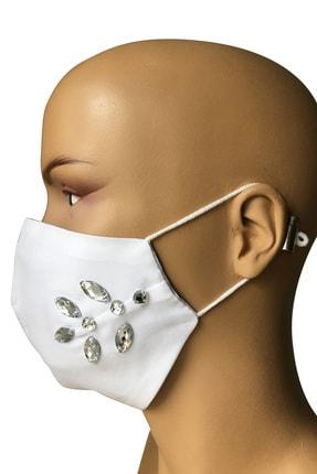 Vera Taşlı Beyaz Maske 4