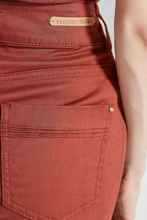 Yargıcı Kadın Kiremit Çift Düğme Detaylı Pantolon 0KKPN3120X 1