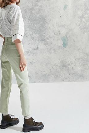 Yargıcı Kadın Nil Yeşili Simli Detaylı Pantolon 0KKPN3121A 0