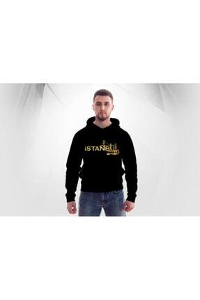 Lifestyle Unisex Siyah Istanbul Mafıa Kapşonlu  Hoodie Polar Sweatshirt 0