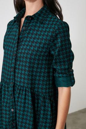 TRENDYOLMİLLA Petrol Gömlek Elbise TWOAW21EL2090 2