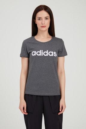 adidas W E LIN SLIM T Koyu Gri Kadın T-Shirt 100546435 1