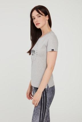 adidas Kadın Gri Circular Graphic T-shirt 0