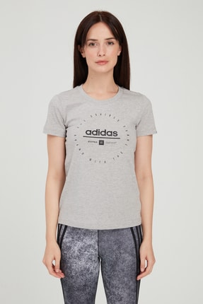 adidas Kadın Gri Circular Graphic T-shirt 2