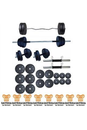 Smyrna Spor 85 Kg Halter Seti Ve Dambıl Seti Ağırlık Fitness Seti + Z Bar 0