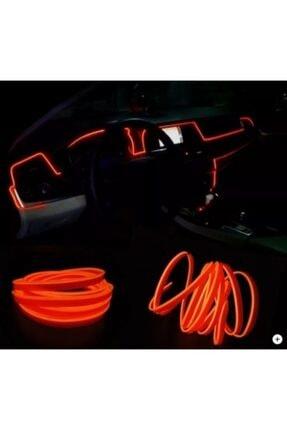 Point Araç Araba Içi Torpido Ledi Renkli Ip Neon Ip Led 2 Metre Turuncu Renk 2
