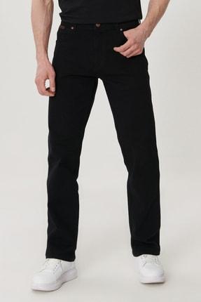 Texas Erkek Siyah Straight Fit Normal Bel Düz Paça Esnek Jean Pantolon W121