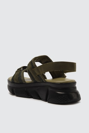TRENDYOLMİLLA Haki Kadın Sandalet TAKSS21SD0024 3