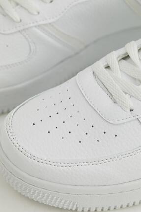 Defacto Kadın Beyaz Bağcıklı Sneaker Ayakkabı 4