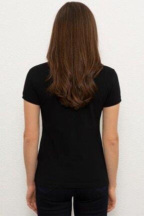 US Polo Assn Kadın Siyah Kısa Kollu T-Shirt 1