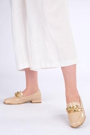 Marjin Kadın Bej Rugan Loafer Ayakkabı Annar 1