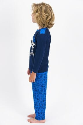 US Polo Assn U.s. Polo Assn Lisanslı Lacivert Erkek Çocuk Pijama Takımı 2