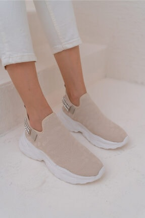 ANGELİNA JONES Costel Kadın Nude Trıko Taşli Ayakkabi 1