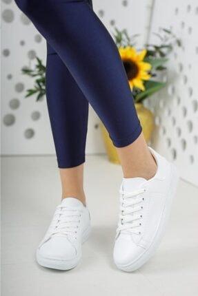 Moda Frato Unisex Beyaz Bağcıklı Günlük Spor Ayakkabı 2