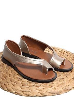 Moda Frato Kadın Altın Rengi Parmak Arası Sandalet Pwr-33 3