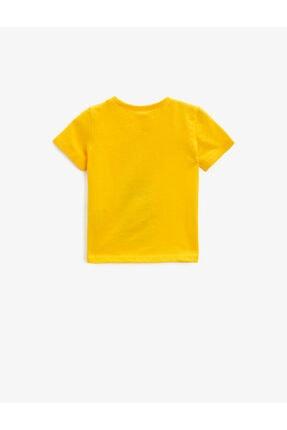 Koton Erkek Bebek Sarı Baskılı Yazılı Pamuklu T-Shirt 1