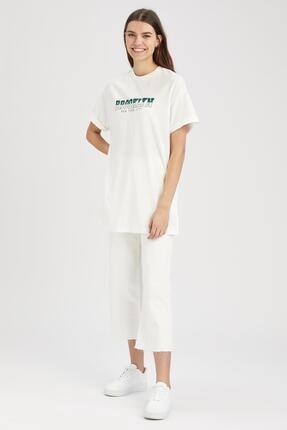 Defacto Kadın  Kısa Kol  T-Shirt 1