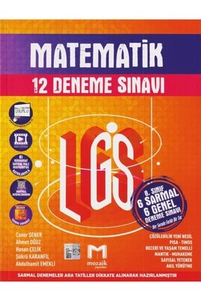 Mozaik Yayınları Mozaik 8. Sınıf Lgs Matematik 12 Li Deneme Sınavı 0