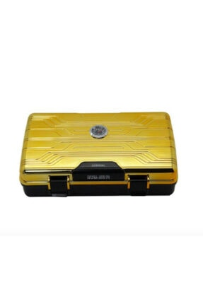 Seyahat Tipi Puro Kutusu Humidor Gold (10cigar) 032