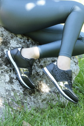 Crash Kadın Siyah Sneaker 140056 2