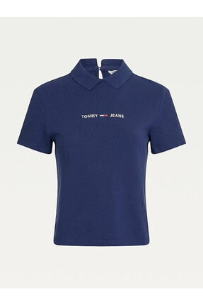 Tommy Hilfiger Kadın Mavi Baskılı  T-shirt 3