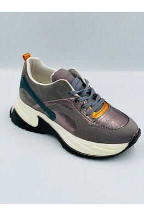 Pierre Cardin Gümüş Parlak Ortopedik Hafızalı Tabanlıklı Hafif Rahat Konforlu Spor Ayakkabı 0