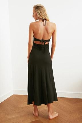 TRENDYOLMİLLA Siyah Cut-Out Detaylı Plaj Elbisesi TBESS21EL2792 3