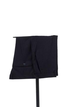 Erkek Siyah Düz Desen Slim Fit Takım Elbise resmi