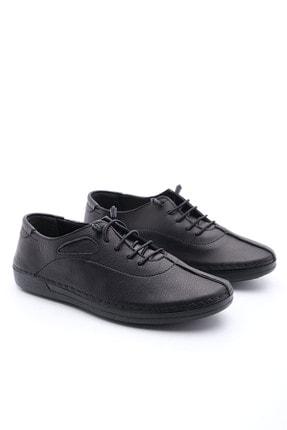 Marjin Kadın Siyah Hakiki Deri Günlük Comfort Ayakkabı Edor 3