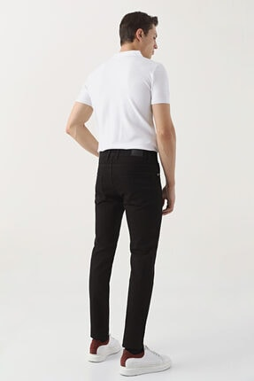 D'S Damat Slim Fit Siyah Düz Denim Pantolon 3