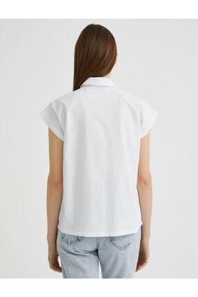 Koton Kadın Beyaz Gömlek Yaka Bluz 3
