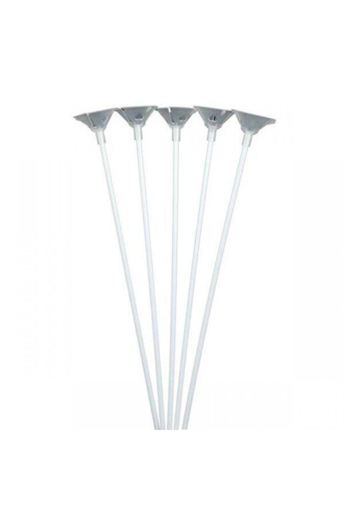 Balon Çubuk Set (gümüş) 100 Adet