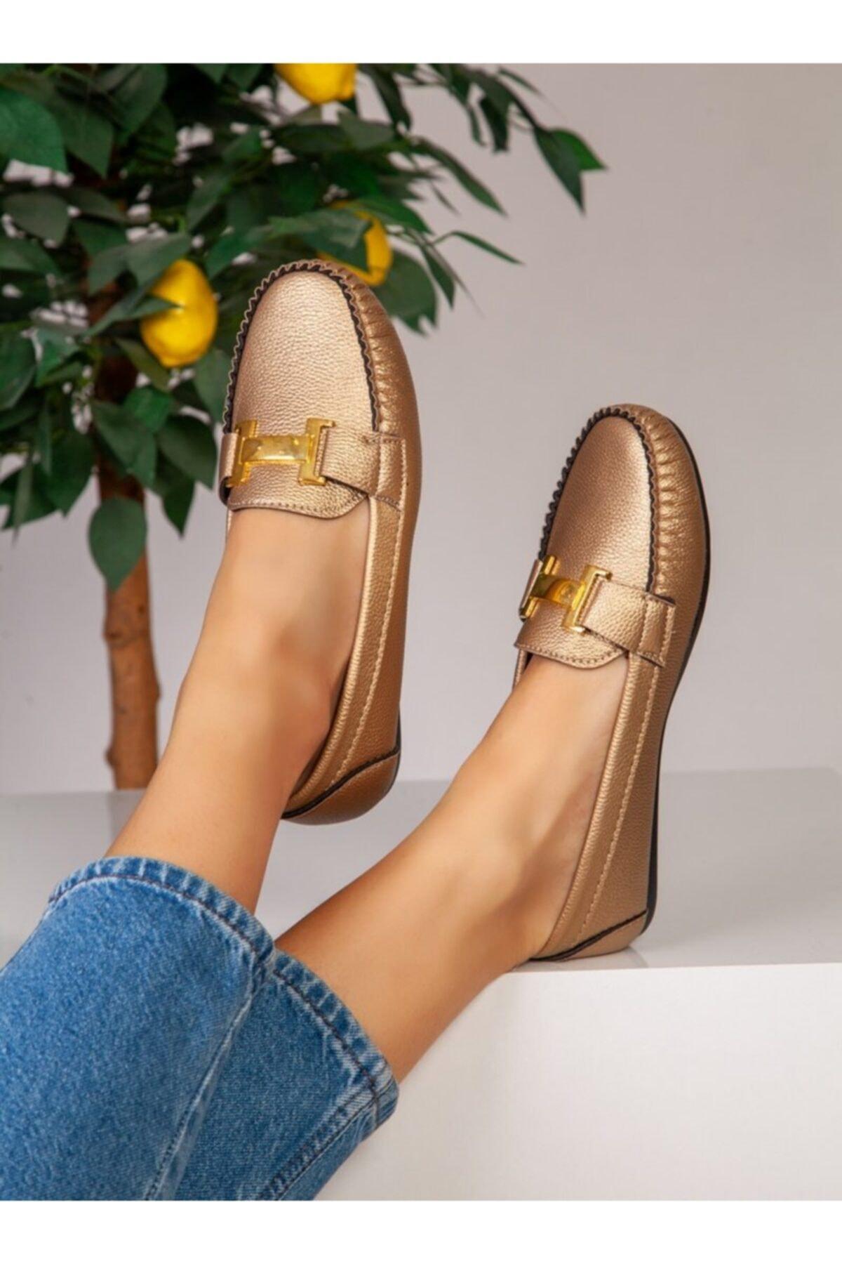 Kadın Gold Günlük Ayakkabı