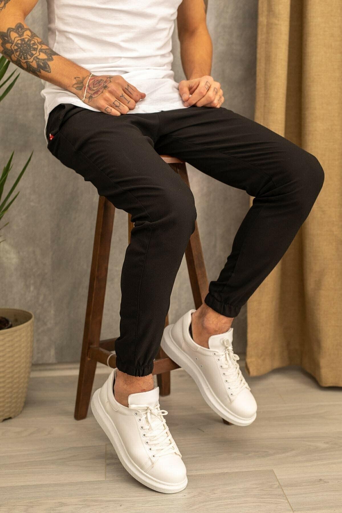 Erkek Siyah Jogger Pantolon