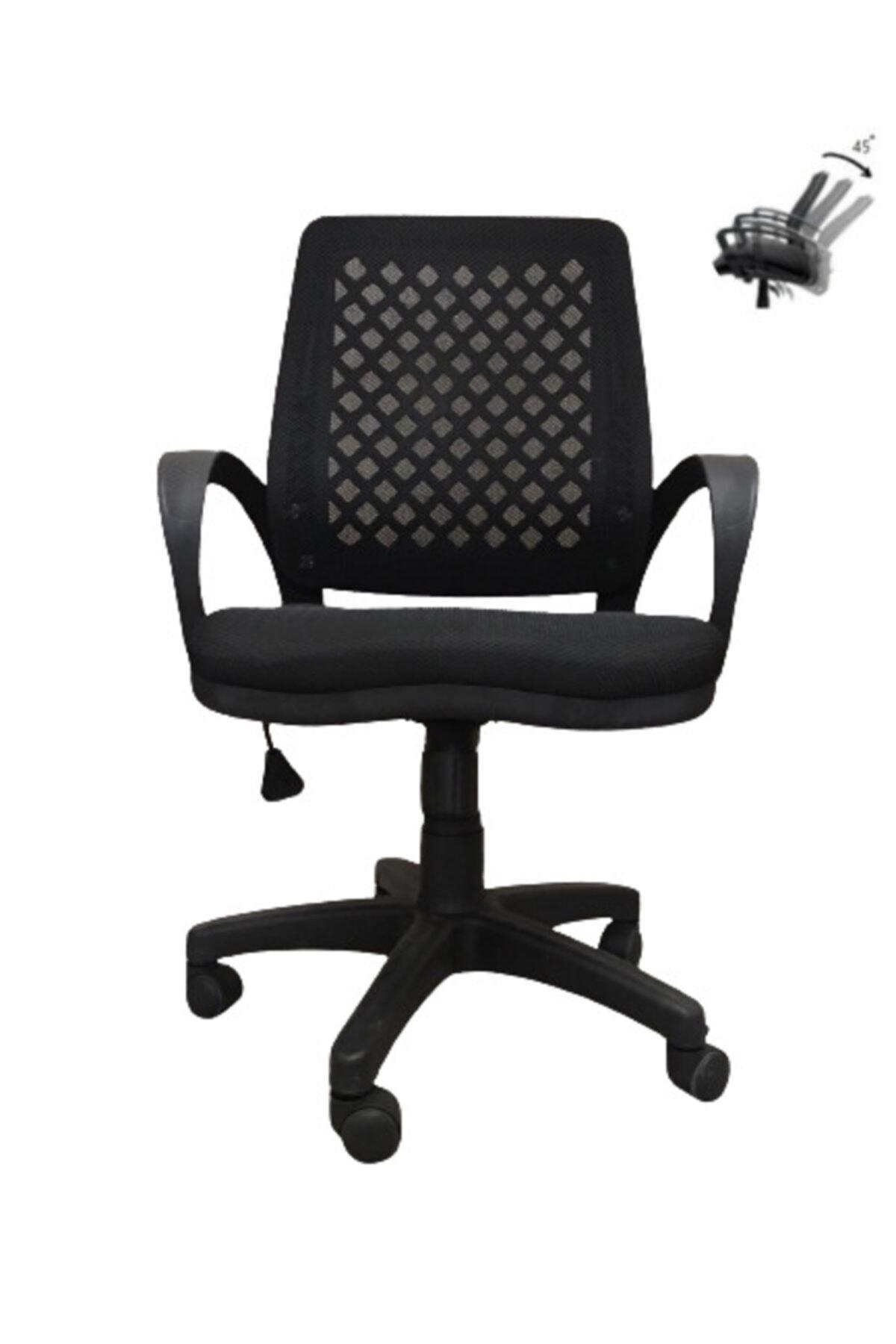 Siyah Büro Ofis Çalışma Koltuğu Bilgisayar Sandalyesi