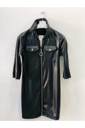Siyah Deri Elbise SİYAH DERİ KADIN ELBİSE