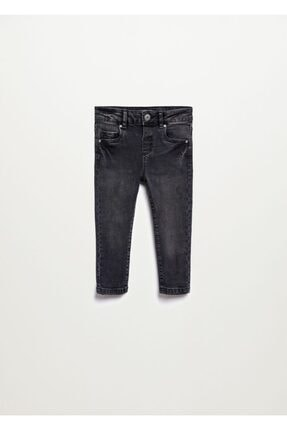 Bebek Siyah denim Soluk Görünümlü Siyah Skinny Jean Pantolon 17064048
