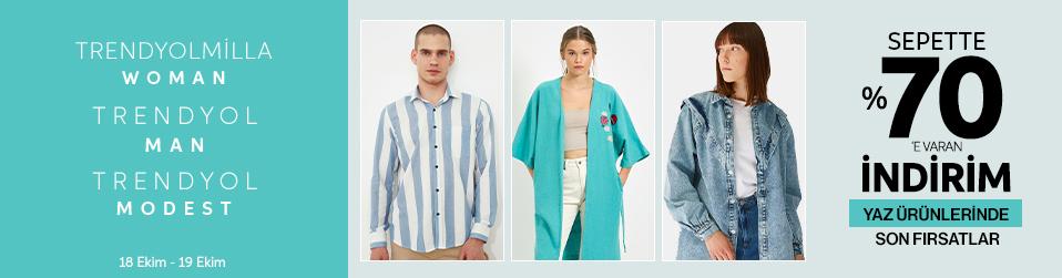 Trendyol Collection - Yaz Ürünlerinde Son Fırsatlar Sepette %70'e Varan İndirim