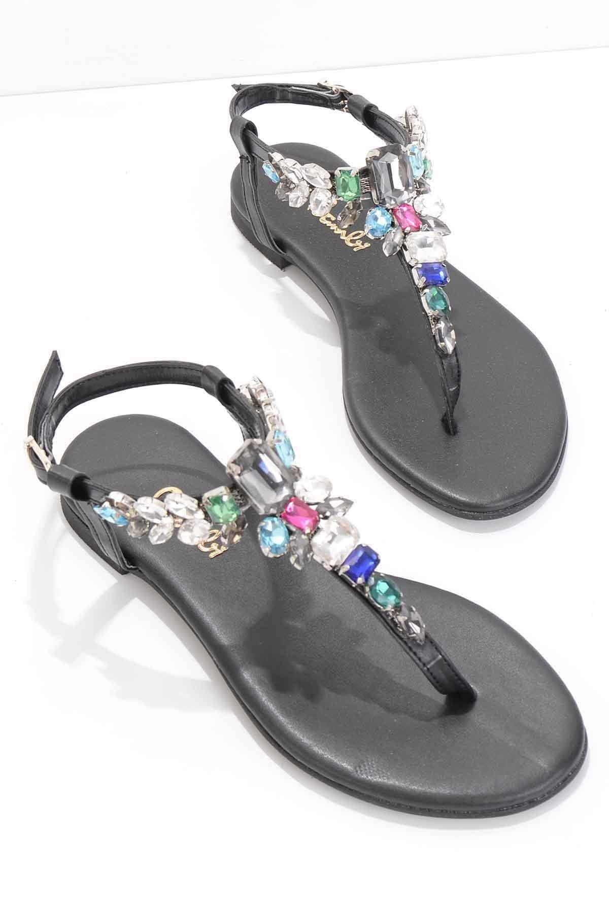 Siyah Kadın Sandalet K05544007009