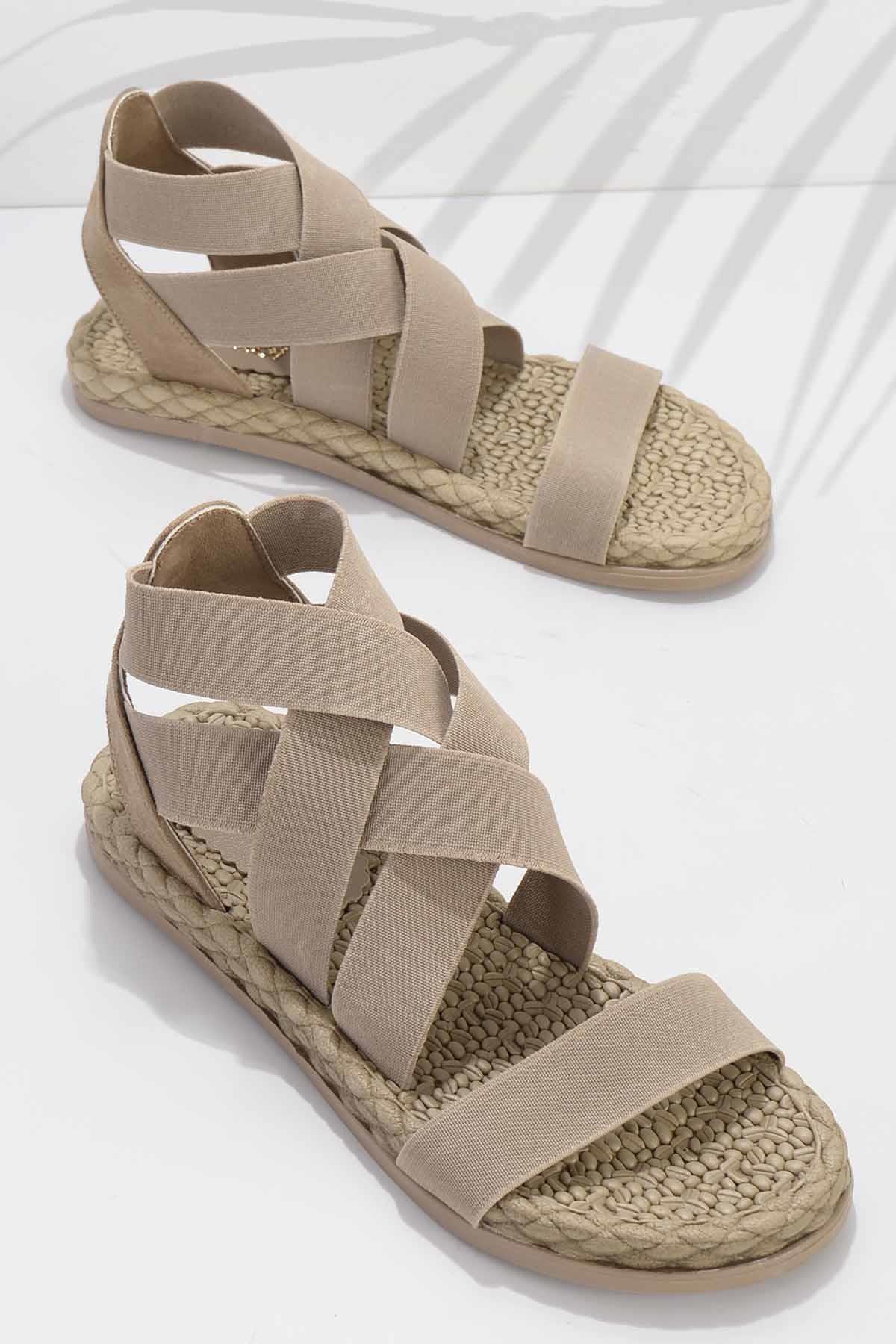 Bej Kadın Sandalet K05682020215